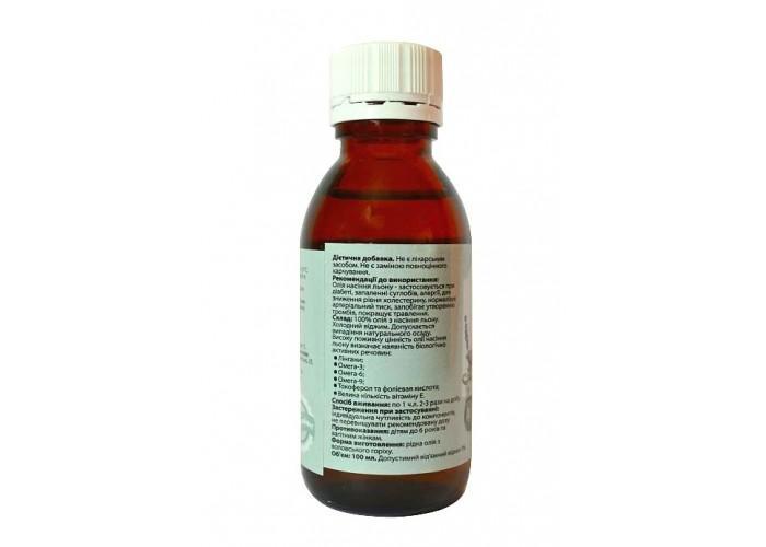 Льняное масло 100ml